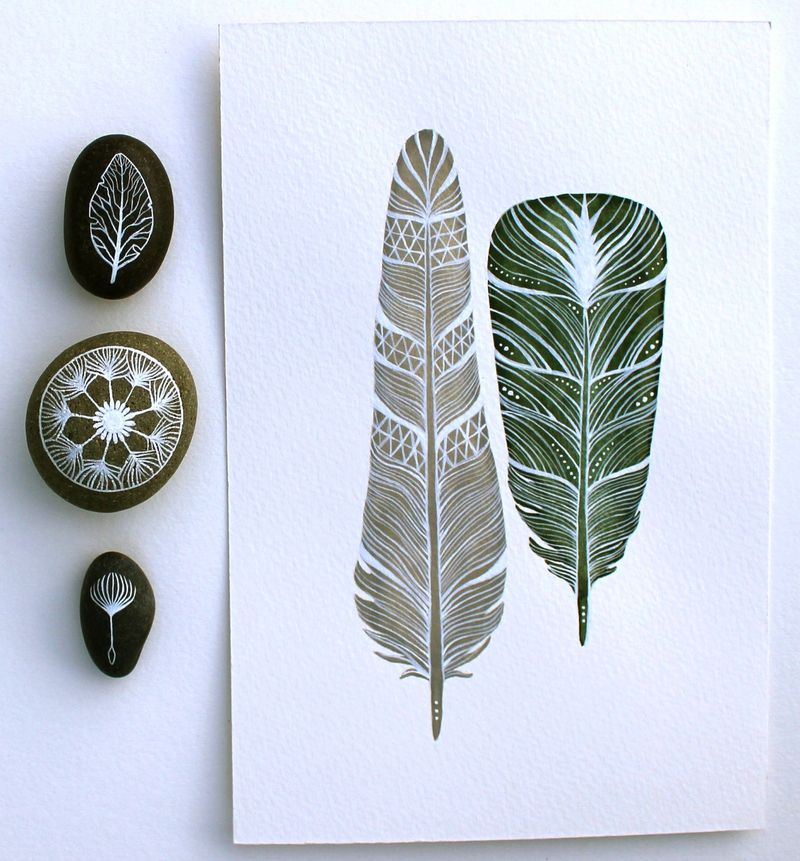 RiverLuna-stones-feathers